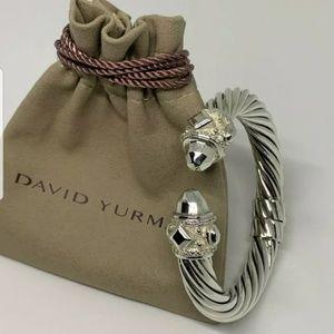 David yurman 10mm ss bracelet with diamonds